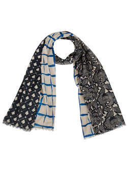 NICE THINGS Foulard bleu marine WFA001