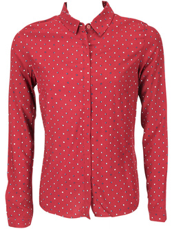 NICE THINGS Chemise manches longues rouge WWB025
