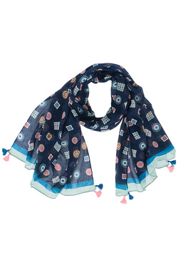 NICE THINGS Foulard bleu marine WFC006