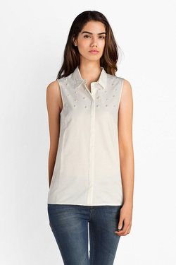 Chemise manches courtes NINA KALIO 51NK2CH305 Blanc