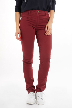 Pantalon NINA KALIO 52NK2PS901 Rouge bordeaux