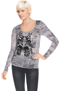 NU - Tee-shirt manches longues4722-50Gris