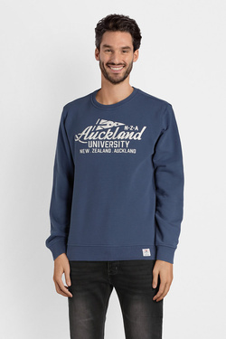 Sweat-shirt NZA NEW ZEALAND AUCKLAND 18BN305C Bleu marine