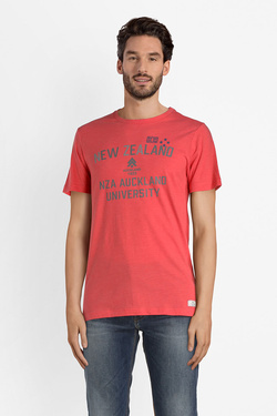Tee-shirt NZA NEW ZEALAND AUCKLAND 18CB704C Rouge
