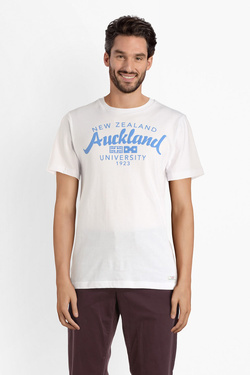 Tee-shirt NZA NEW ZEALAND AUCKLAND 19CN703 Blanc