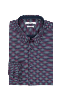 Chemise manches longues ODB 50OD1CV302 Violet prune