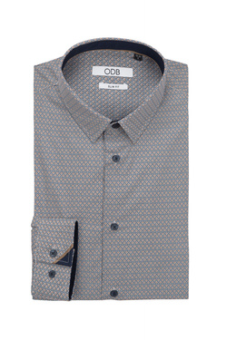 Chemise manches longues ODB 50OD1CV201 Marron