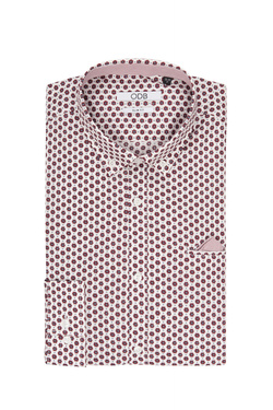 Chemise manches longues ODB 51OD1CV400 Rouge