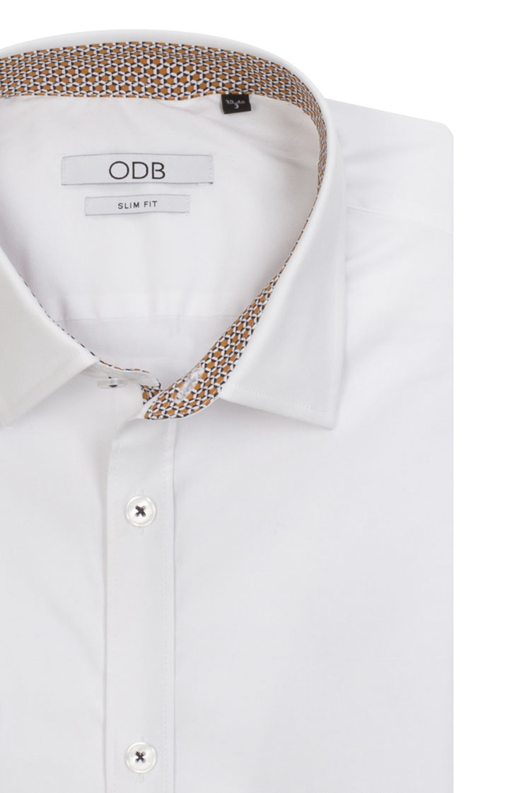 odb chemise manches longues 52od1cv006 blanc homme