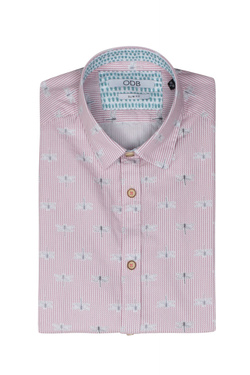 Chemise manches courtes ODB 51OD1CV404 Rose