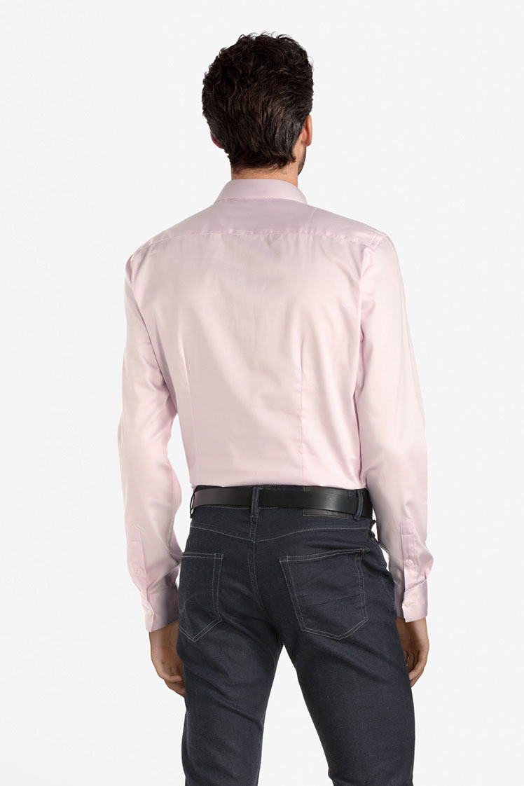 odb chemise manches longues 53od1cv900 rose homme