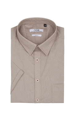Chemise manches courtes ODB 53OD1CV202 Beige