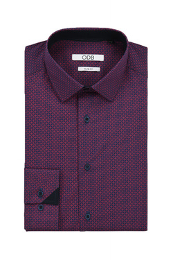 Chemise manches longues ODB 52OD1CV605 Rouge