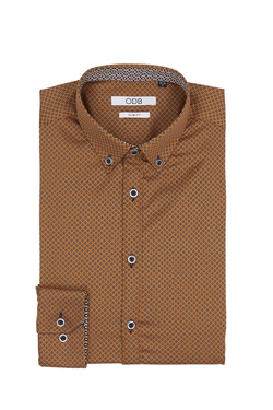 Chemise manches longues ODB 54OD1CS300 Marron
