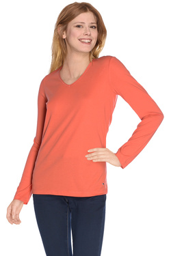Tee-shirt manches longues OLIVIA K 48OK2TS001 Orange