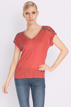 ONE STEP - Tee-shirtFJ10041Rouge