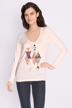 Tee-shirt manches longues ONE STEP FK10181 Rose