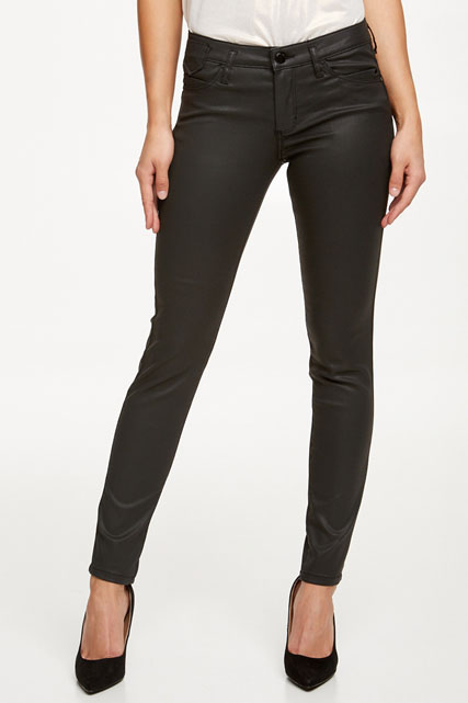 Pantalon enduit coupe slim