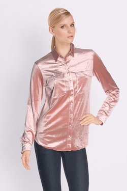 Chemise manches longues ONE STEP FK12071 Rose