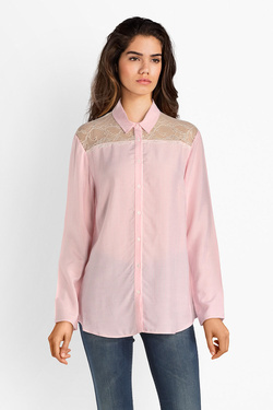 Chemise manches longues ONE STEP FM12011 Rose