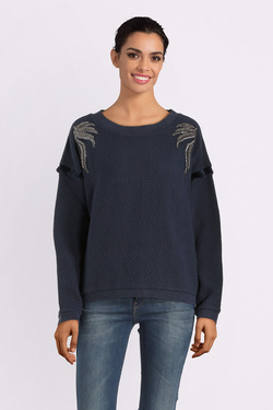 Sweat-shirt ONE STEP FM15011 Bleu marine