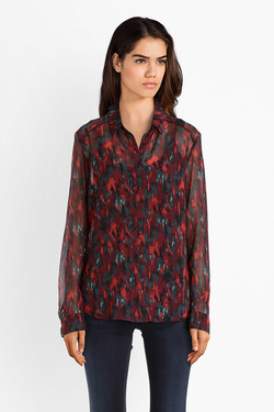 Chemise manches longues ONE STEP FM12181 Rouge