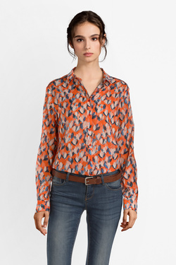 Chemise manches longues ONE STEP FN12081 Orange