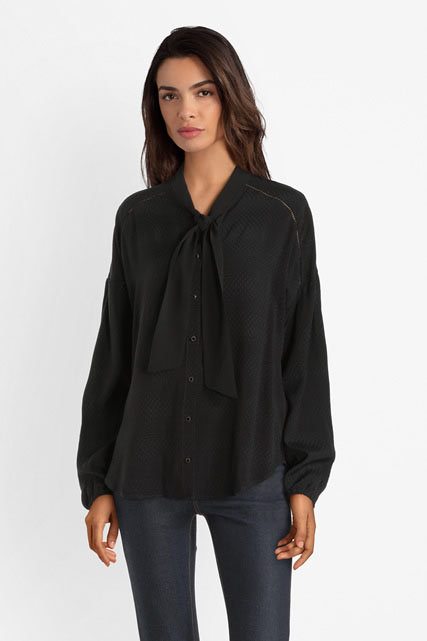 Chemise col cravate ONE STEP