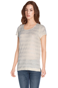 ONE STEP - Tee-shirtFH10101Beige
