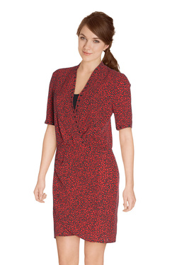 ONE STEP Robe rouge vermillon FI30001