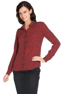 ONE STEP - Chemise manches longuesFI12001Rouge vermillon