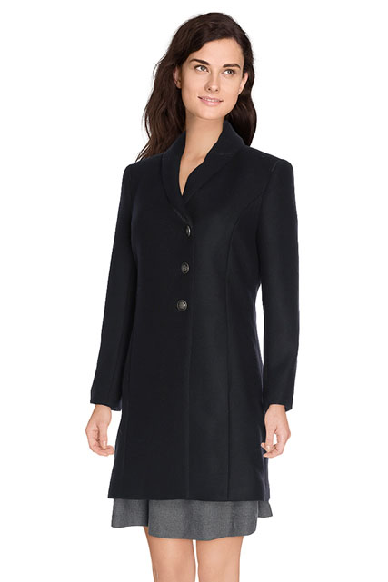 MANTEAU DROIT DRAP DE LAINE ONE STEP