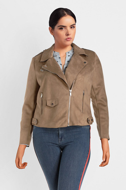 Blouson ONLY CARMAKOMA 15161641 CARSHERRY Marron