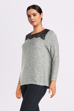 Pull ONLY CARMAKOMA 15189676 CARDOHA Gris
