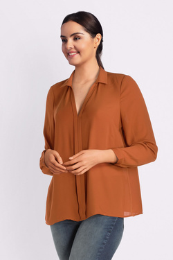 Blouse ONLY CARMAKOMA 15188976 CARALIE Marron