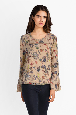 Blouse ONLY 15151147 ONLCAROLINA Beige