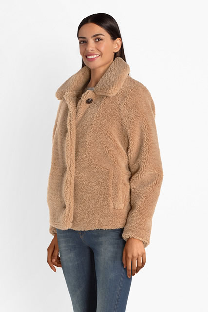 the best half price outlet store sale Manteau en fourrure sherpa ONLY