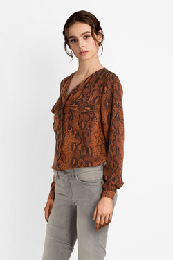 Chemise manches longues ONLY 15186242ONLKATY Marron