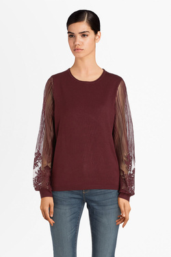 Pull ONLY 15189071 ONLLACEY Rouge bordeaux