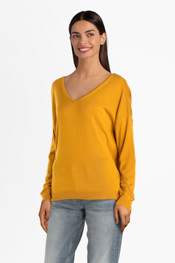 Pull ONLY 15187920  ONLADELE Jaune moutarde
