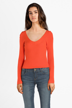 Pull ONLY 15196206 ONLTANZIA Rouge vermillon