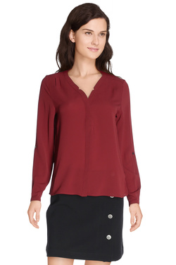 ONLY Blouse fluide rouge bordeaux 15125051