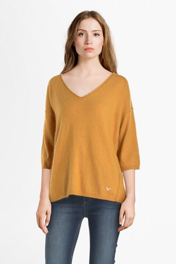 Pull ORFEO CAMILLE.SWT1090 Jaune moutarde