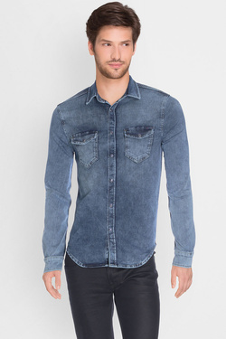 Chemise manches longues PEPE JEANS LONDON PM302685N28 Bleu