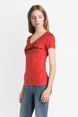Tee-shirt PEPE JEANS LONDON PL502823 Rouge