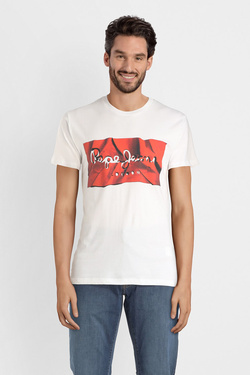 Tee-shirt PEPE JEANS LONDON PM506480 Rouge