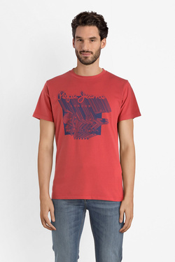 Tee-shirt PEPE JEANS LONDON PM506368 Rouge