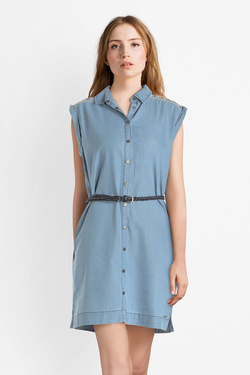 Robe PEPE JEANS LONDON PL952473 Bleu ciel