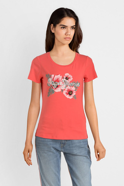 Tee-shirt PEPE JEANS LONDON PL504068 Corail
