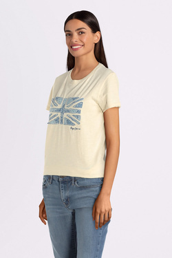 Tee-shirt PEPE JEANS LONDON PL504259 Beige
